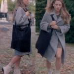 Fi Çi 2. bölüm Duru kahve rengi bot Duru beyaz botlar Duru siyah çanta Duru Kahve rengi triko elbise