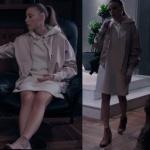 Fii Çİ 2. Sezon 2. bölüm Serenay Sarıkaya Beyaz kapşonlu elbise Krem rengi çizme ve Krem Rengi ceket nerden