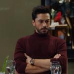 KAlp Atışı 19. bölümde Ali Asaf bordo tri kazak ... Ali Asaf Saat markası Nacar