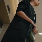 Kalp Atışı Nazlı Siyah cepli kaban.... ve portföy el çantası Pinky Lola Design marka