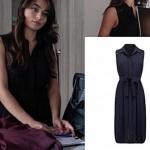 Meryem 8. bölüm siyah kolsuz elbise Forever New marka