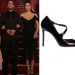 Siyah İnci Dizisinin 6. bölümünde Hazal karakterinin siyah elbise ile giydiği siyah ayakkabılar İnci Deri marka