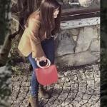 Siyah İnci Hazal haki botlar ve kırmızı çanta markaları araştırılıyor