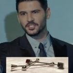 Siyah İnci dizisinde Kenan'ın kravat iğnesi Mazura marka.