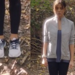 Ufak Tefek Cinayetler 3. bölümde Oya spor kıyafetleri hangi marka Oya gri spor montu Oya Spor ayakkabılar Adidas, oya tayt Oya bluz