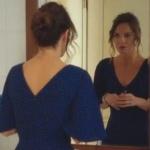Ufak Tefek Cinayetler Arzu mavi elbise Mango marka