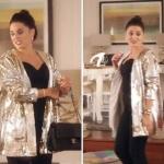 Merve'nin giydiği altın rengi pullu ceketin markası On triko