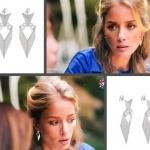 Ufak Tefek Cinayetler Pelin Kıyafetleri Pelin gümüş rengi küpeleri Bendis Takı