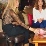 Ufak Tefek Cinayetler dizisinde Pelin'in giydiği transparan bluzun markası Zeynep Okten
