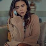 İstanbullu gelin ipek kıyafetleri İpek sütlü kahve rengi uzun hırka