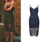 Arzu karakterinin giydiği lacivert dantel kalem elbise markası Forever New.