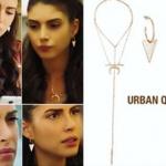 Fazilet Hanım ve Kızları Hazan üçgen küpe ve kolye markası Urban Queen.
