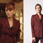 Fazilet Hanım ve Kızları son bölümde Yasemin'in giydiği bordo desenli ceketin markası ADL.