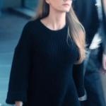 Fi Çi 3. bölüm dizi kıyafetleri Durunun Siyah Triko elbisesi Nocturne marka