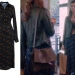 Fi Çi 4. Bölümde Bilgenin giydiği lacivert elbise Jubelle marka bilge deri ceket Bilge kahve rengi çanta nereden