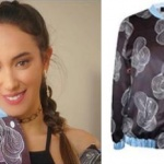 Ufak Tefek Cinayetler Burcunun giydiği desenli bomber ceketin markası H6 By Hazal Ozman
