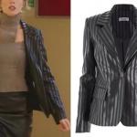 Ufak Tefek Cinayetler dizisinin 6. bölümünde, Pelin karakterinin giydiği çizgili ceketin markası Esra Gürses