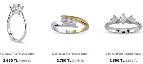 Zen Tria yüzük modelleri ve yüzük fiyatları