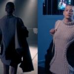 Fi Çi 3. Bölüm Duru krem rengi siyah triko elbise markası