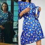 Babamın Günahları Kıyafetleri Yeşim mavi leopar desenli elbise markası Mango