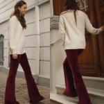Fazilet Hanım ve Kızları Ece bordo pantolon ve beyaz kazak nereden