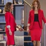 Siyah Beyaz Aşk İdil kırmızı etek ceket takım nereden