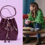 Siyah Beyaz Aşk Dizisinde Aslı'nın bordo çantası Marea Design marka