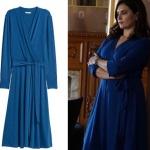 Ufak Tefek Cinayetler Merve mavi yandan bağlamalı elbise hangi marka HM