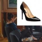 Ufak Tefek Cinayetler Mervenin giydiği siyah topuklu stilettolar İnci Deri