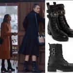 Çukur-Kıyafetleri-13. Bölüm Sena siyah botlar Casave Shoes marka