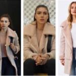 Fazilet Hanım ve Kızları Kıyafetleri Bölüm 34 Hazan krem rengi süet mont Forewer New