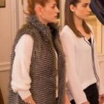 Fazilet Hanım ve Kızları bölüm 31 de Yasemin tüylü ceket markası Zuhal Yalçın