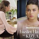 Fazilet Hanım ve Kızları son bölüm kıyafetleri Afra Saracoğlu / Ece şerit yaka kazak markası Nun Blander