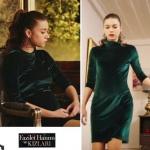 Fazilet Hanım ve Kızları son bölüm de Afra Saracoğlu'nun ECENİN GİYDİĞİ yeşil kadife elbisenin markası 3 Za Gency marka