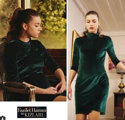 2018 Kadife Elbise Modelleri