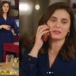 Ufak tefek cinayetler 15. Bölüm kıyafetleri Merve'nin giydiği kolları transparan mavi elbisenin markası Rue