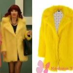 Jet Sosyete 4. Bölümde Gülse Birsel in Gizemin giydiği sarı kürkü nereden? Gizemin giydiği sarı kürk Ece Dikici marka