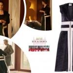 Ufak Tefek Cinayetler Kıyafetleri 18. Bölüm Mervenin giydiği siyah üzerine beyaz çizgili deri yeleğin markası Ece Derya