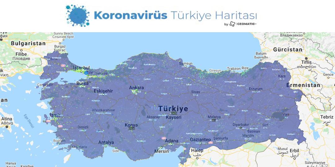 Türkiye corona virüs haritası
